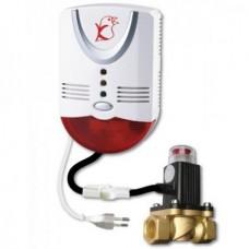 Сигнализатор контроля загазованности Кенарь GD100-N+DN20 с клапаном GV-80